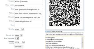 Skjermdump qr-kode generator