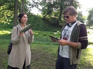 """Her et bilde fra den gangen Sarah og Bjøprn Olav testet ut """"Borrehallen"""""""
