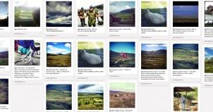Skjermdump av Dovre-tavla på Pinterest