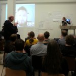 Deltaker fra Nederland via Skype Histagram - kilde Digitalt Museum. Hista.gr #hack4no #knreise