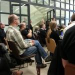 Interessert publikum på #hack4no #knreise