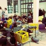 jacobriddersholm Super warm and hyggelig stemning at #hack4no, people chatting, sharing stories...