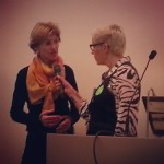 Anne- cathrine Frøstrup, Kartverket, i samtale m Anne Aasheim, under åpningen av #Hack4no #knreise