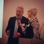 Jørn Holme, entusiastisk styreleder i #knreise og #riksantikvar under åpning av #Hack4no
