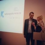 Torfinn Sørensen, Miljødirektoratet, under åpningen av #hack4no $ knreise