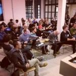 odinho_ Klar for presentasjon av prosjekta me har laga under #hack4no. Me fekk noko brukande til slutt!