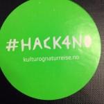 sidsehin 4 timer igjen. Spent og forventningsfull #hack4no