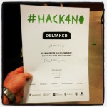 So happy to have been a part of #hack4no, great event, great projects. We took the 2nd place