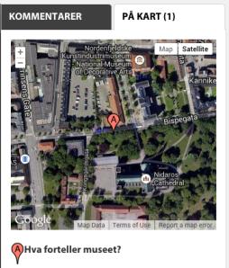Unøyaktig plassering på kart.