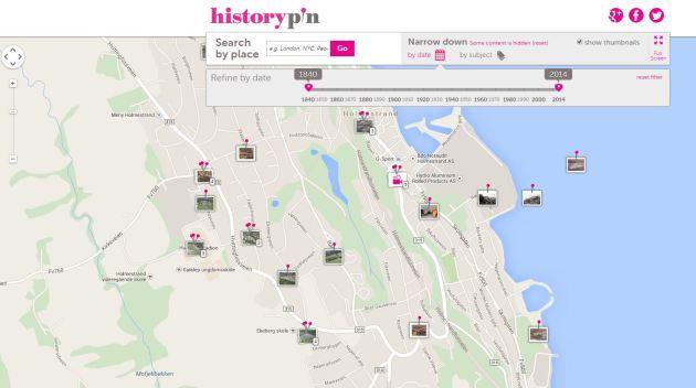 historypin tid og kart