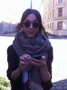 Sarah McSeveny-Åril testing Knappen in Oslo