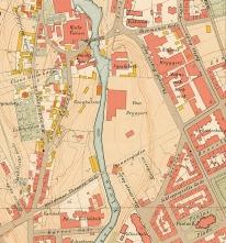 Kristiania oppmålingsvesen, 1900, utsnitt. Original i Oslo byarkiv