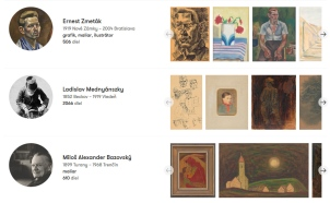 SNG web_umenia_artist_profiles
